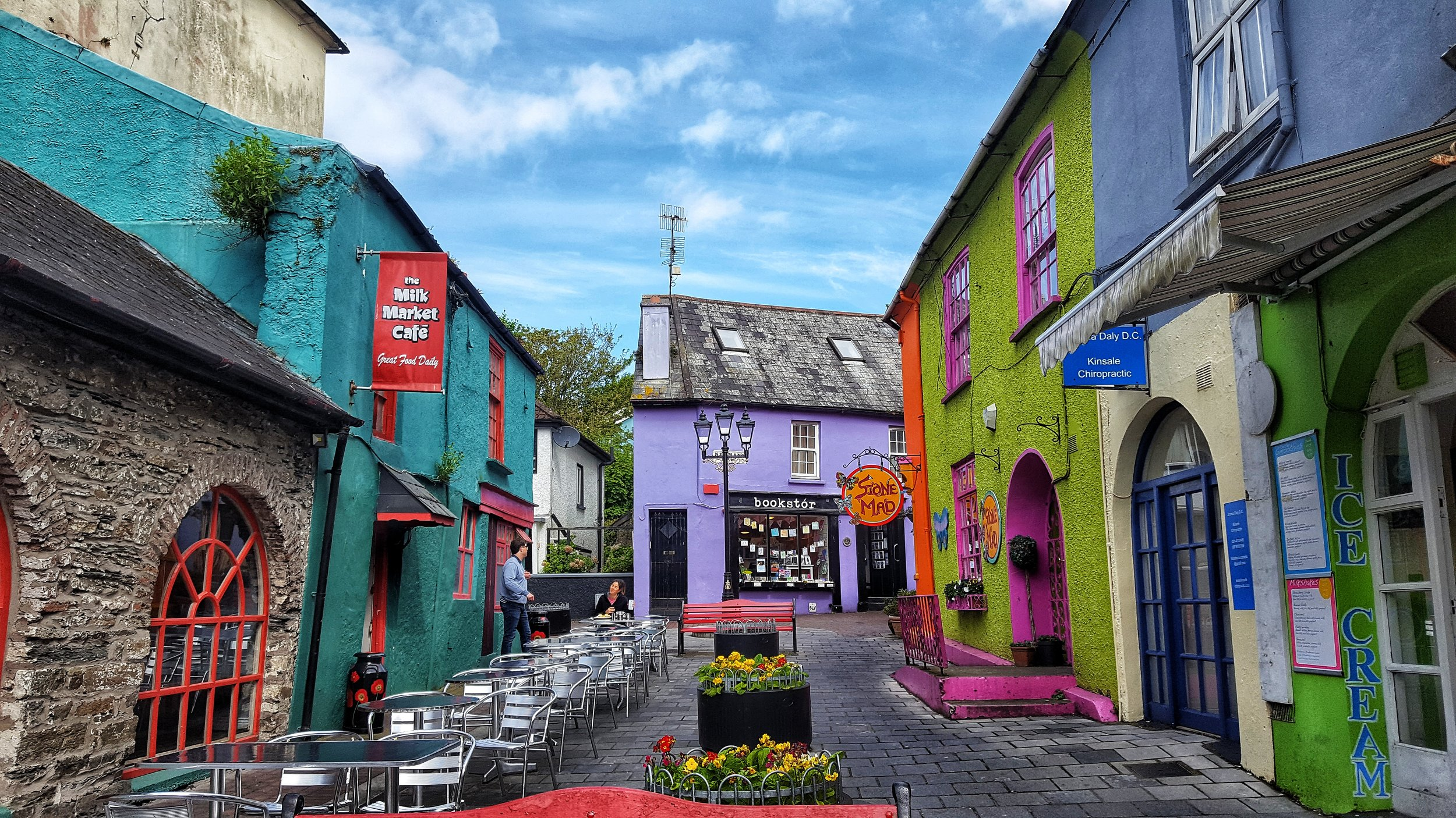 A snippet of the colorful downtown of Kinsale.