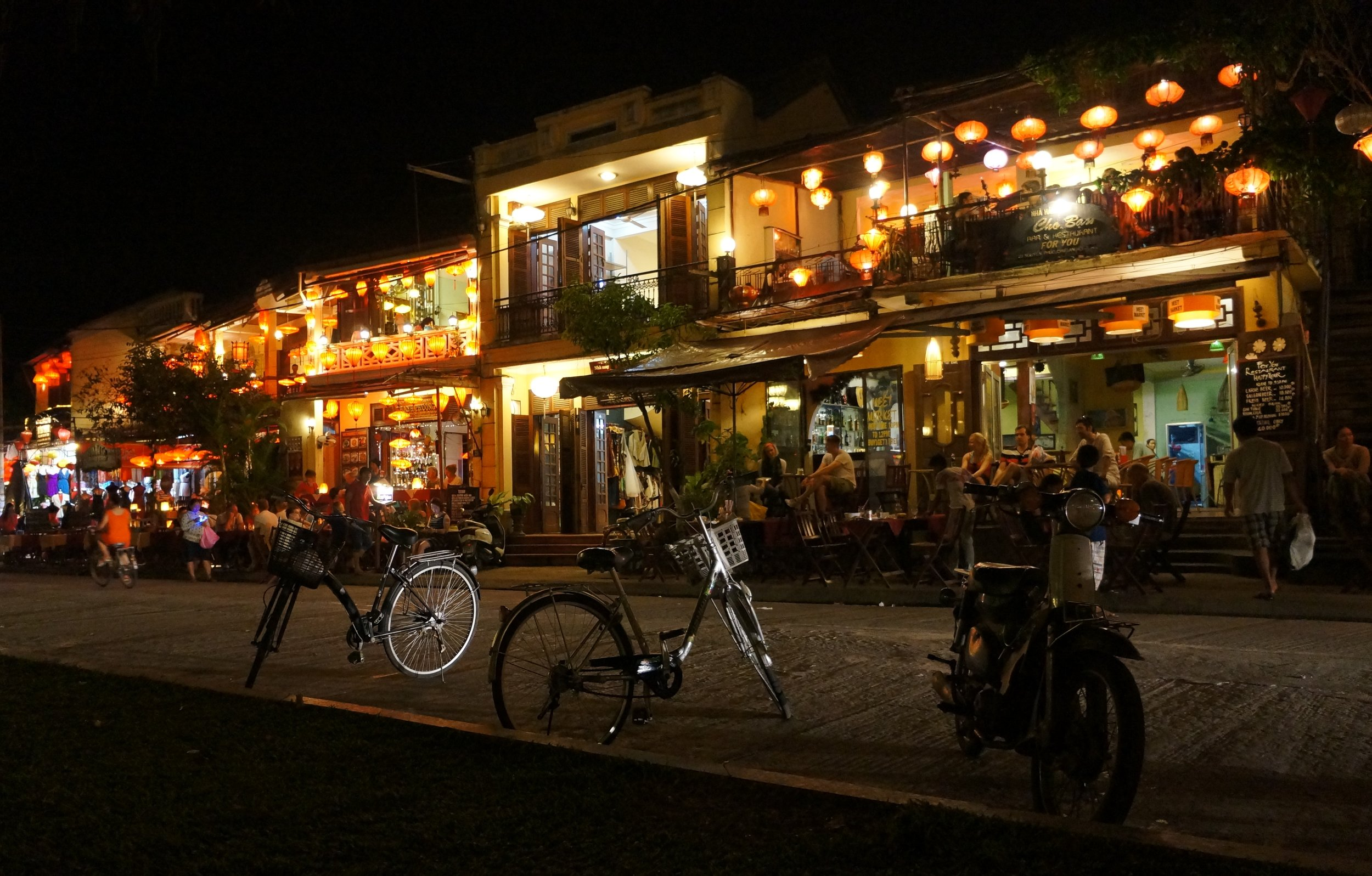 Hoi An, Vietnam Streets at Night.