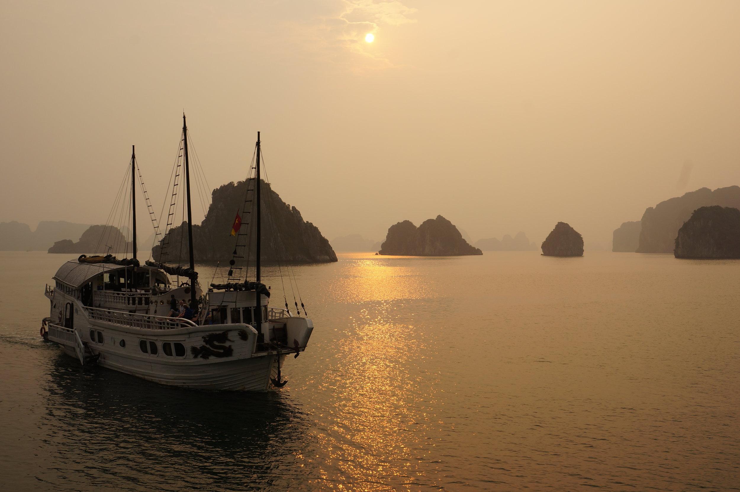 Ha Long Bay Junk Boat Overnight Cruise, Vietnam