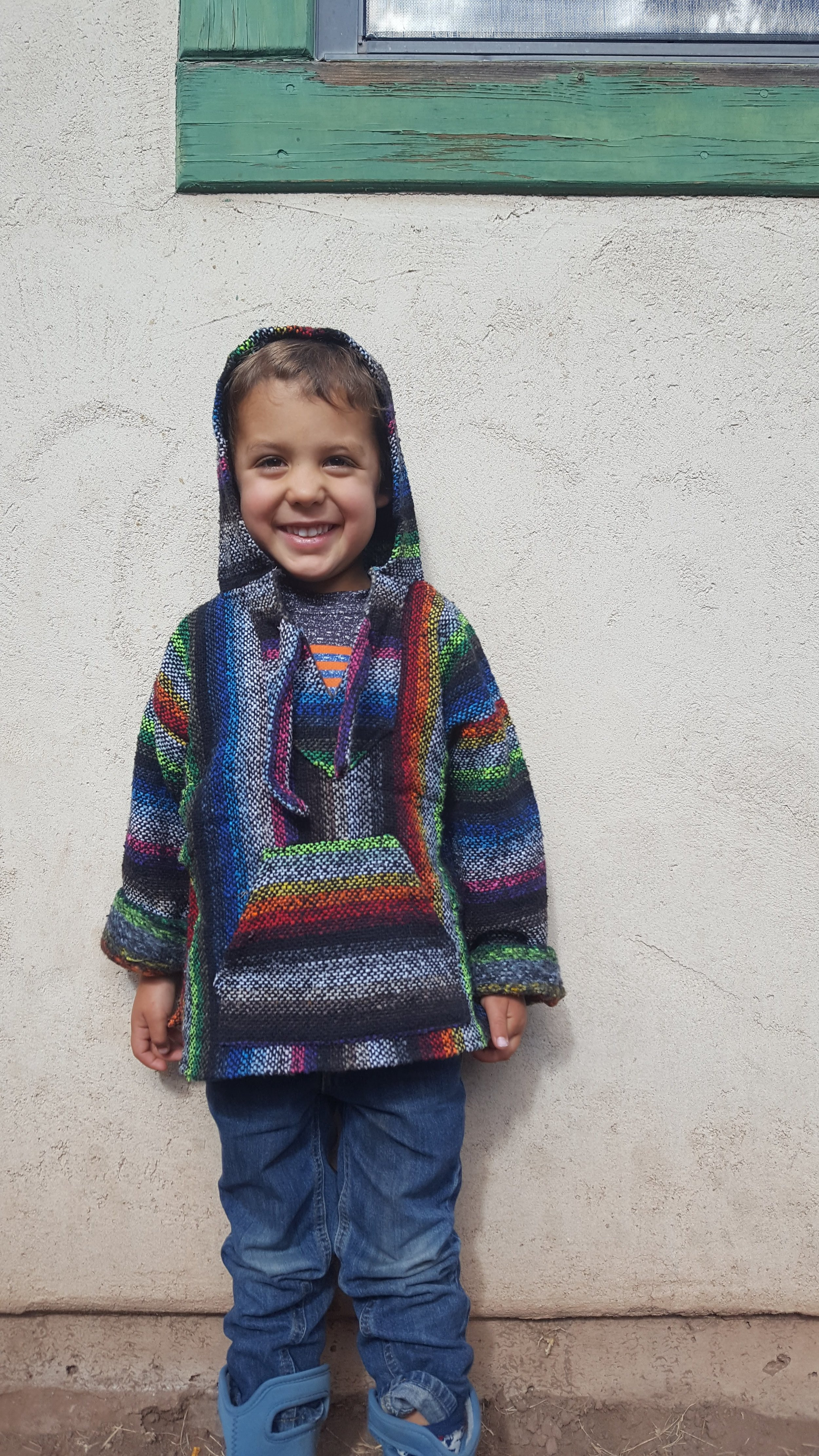 One of the two awesome Baja ponchos we bargained for!
