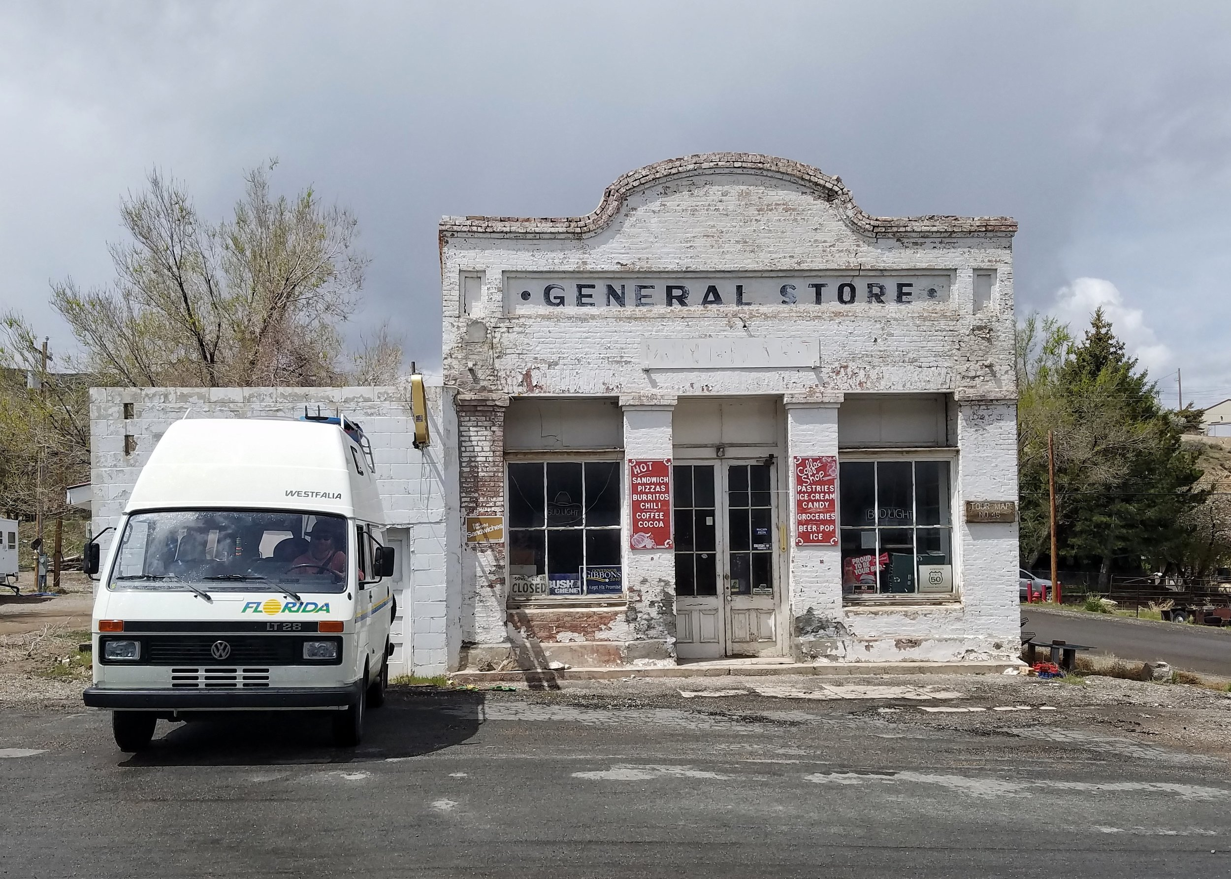 Loaf stopping in front of an old General Store