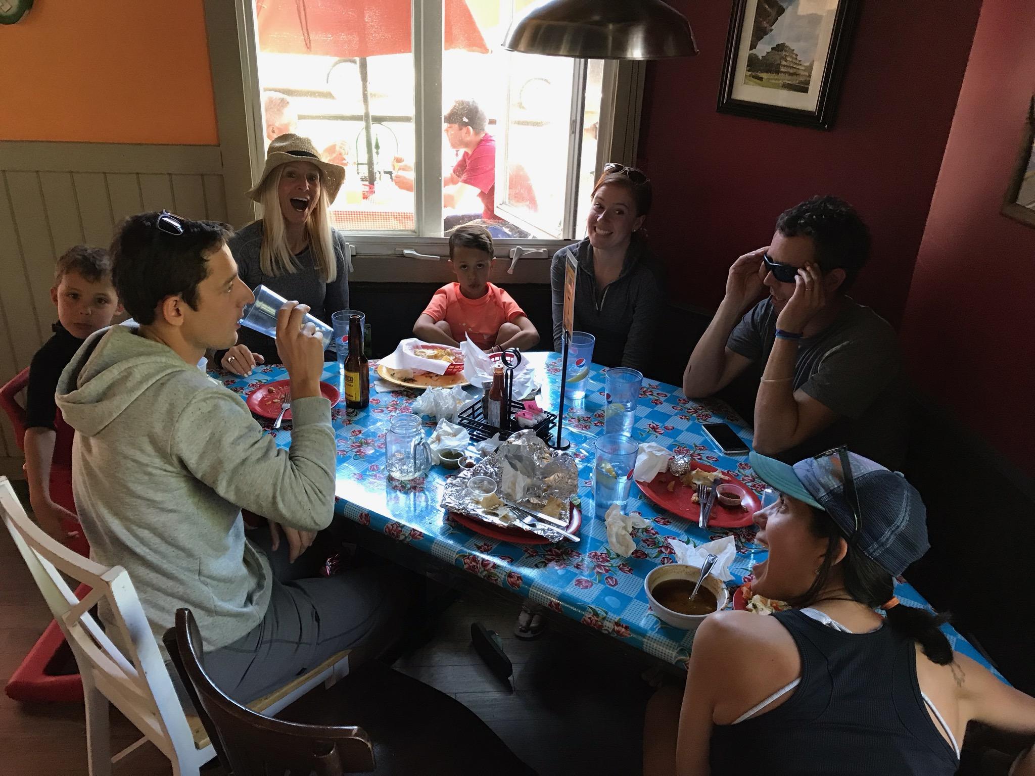 Giant burrito-eating meals!