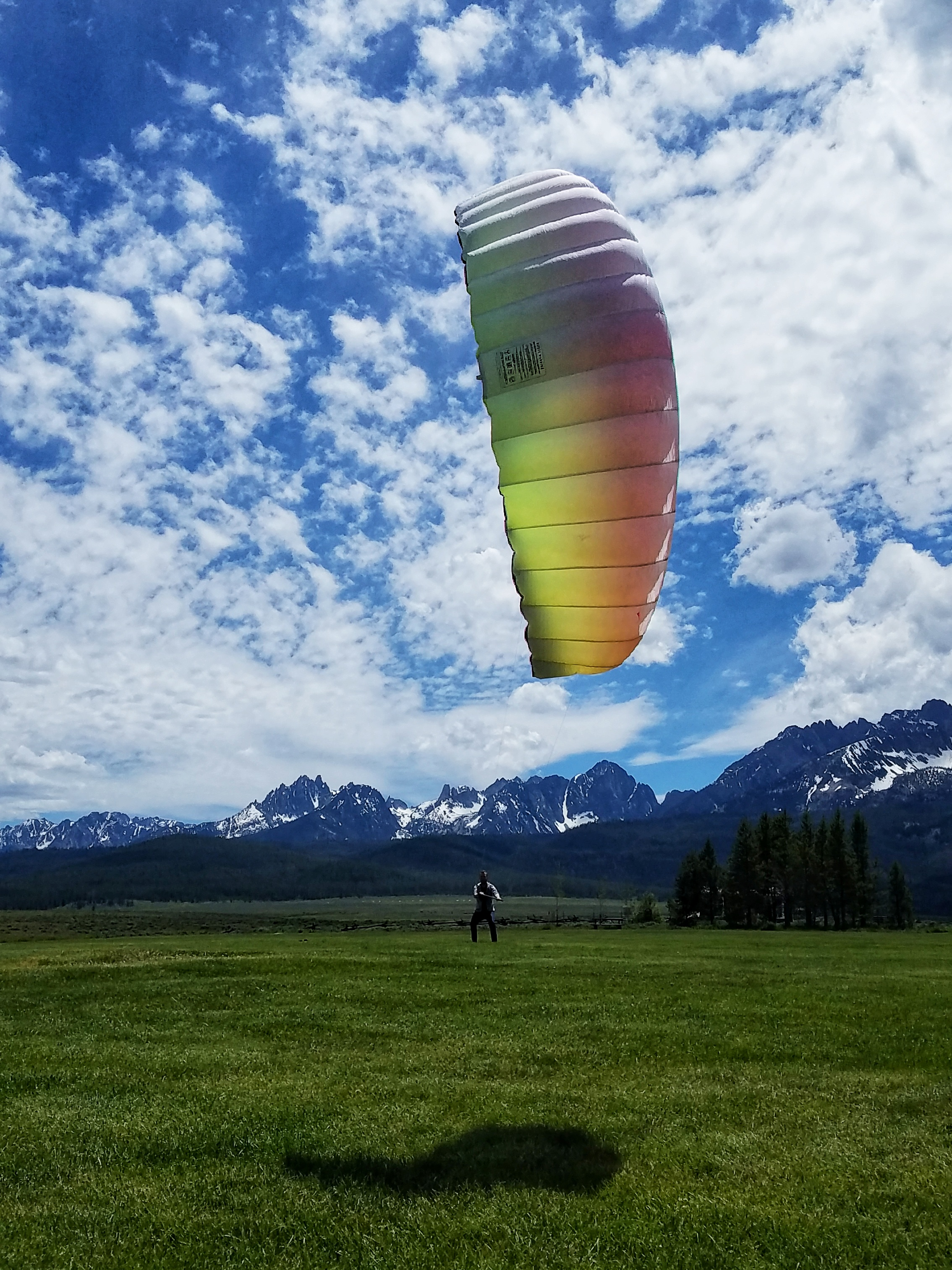 A nice backdrop to kite flying, Stanley, Idaho