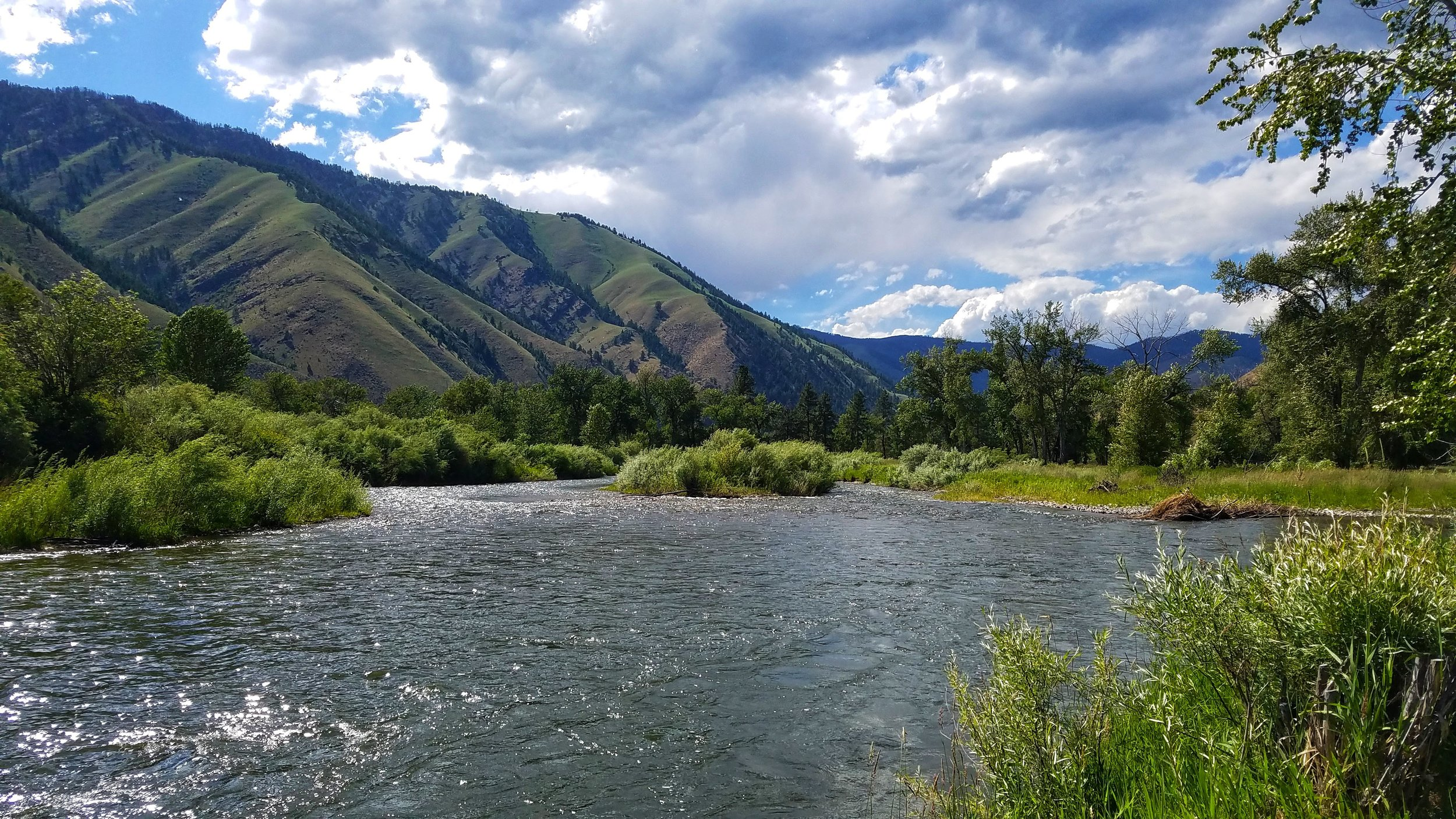 The beautiful views of the Salmon River