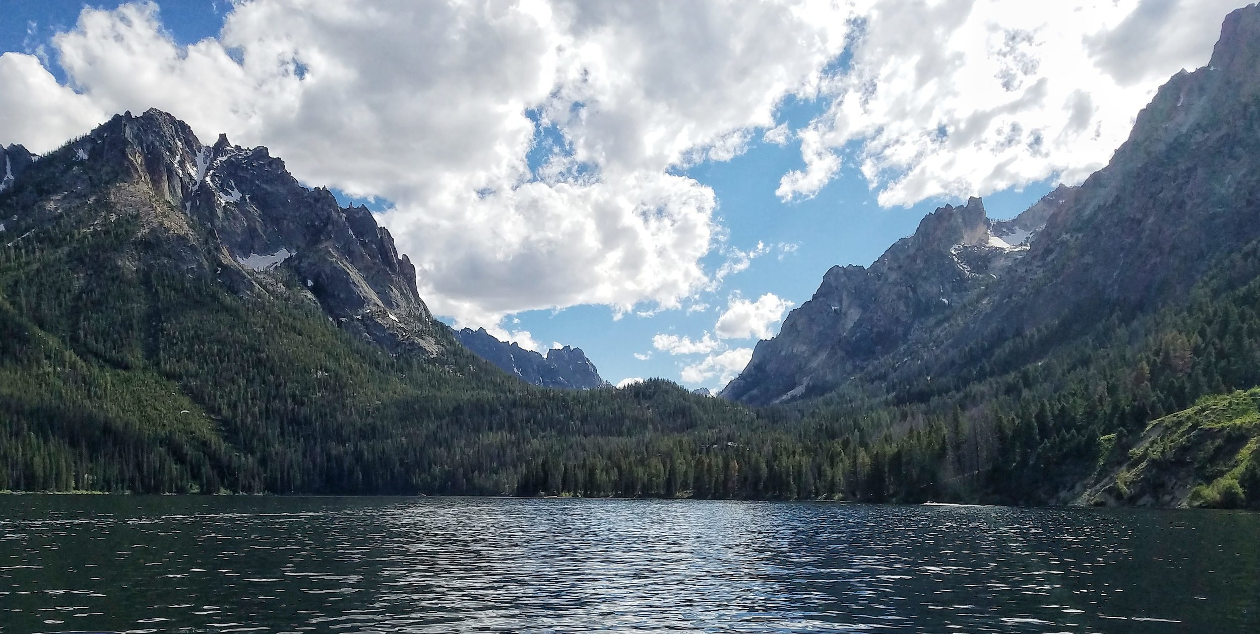 Loving the views of the Sawtooth Mountains, Redfish Lake, Idaho