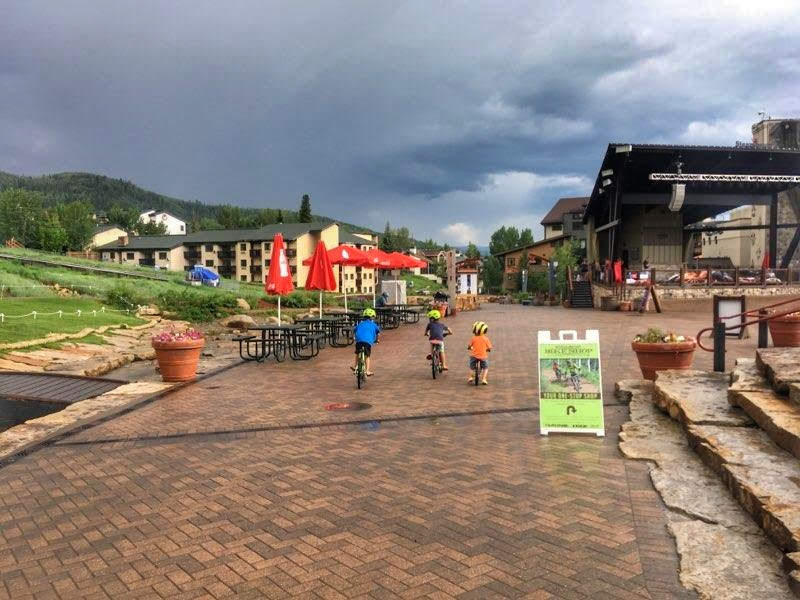 Biking with Penn in Steamboat Springs, CO