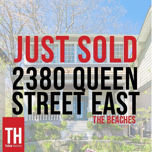 Just Sold. This beautiful family home that's screams beach. Great location, great view, a great home to raise a family. . . . . . #tobiahomes #thebeaches #thebeachestoronto #justsold #torontorealeste #beachesrealestate #royallepagecanada #estaterealty #queenstreeteast