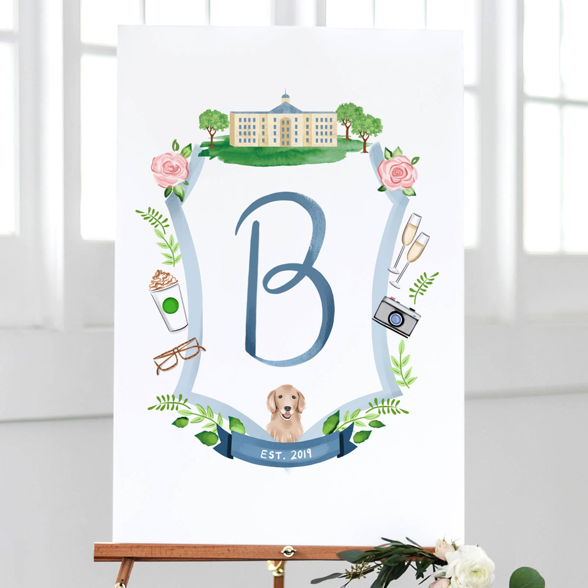 Wedding Crest Sign