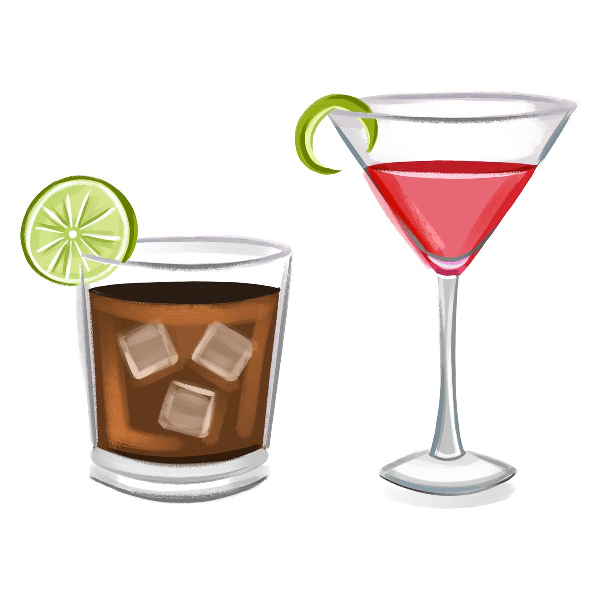 Signature Cocktail Illustrations