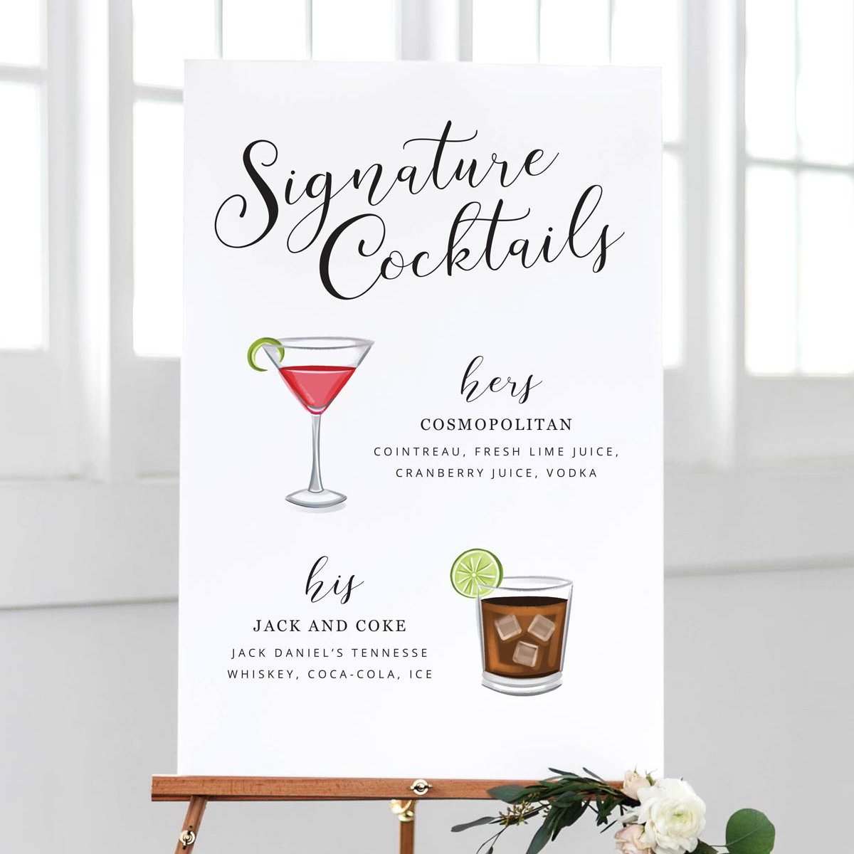 Signature Cocktail Sign