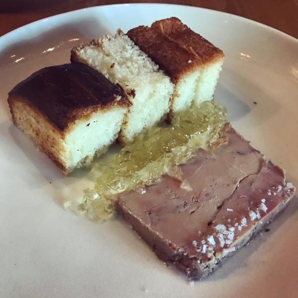 Foie gras torchon with sauternes gelée.