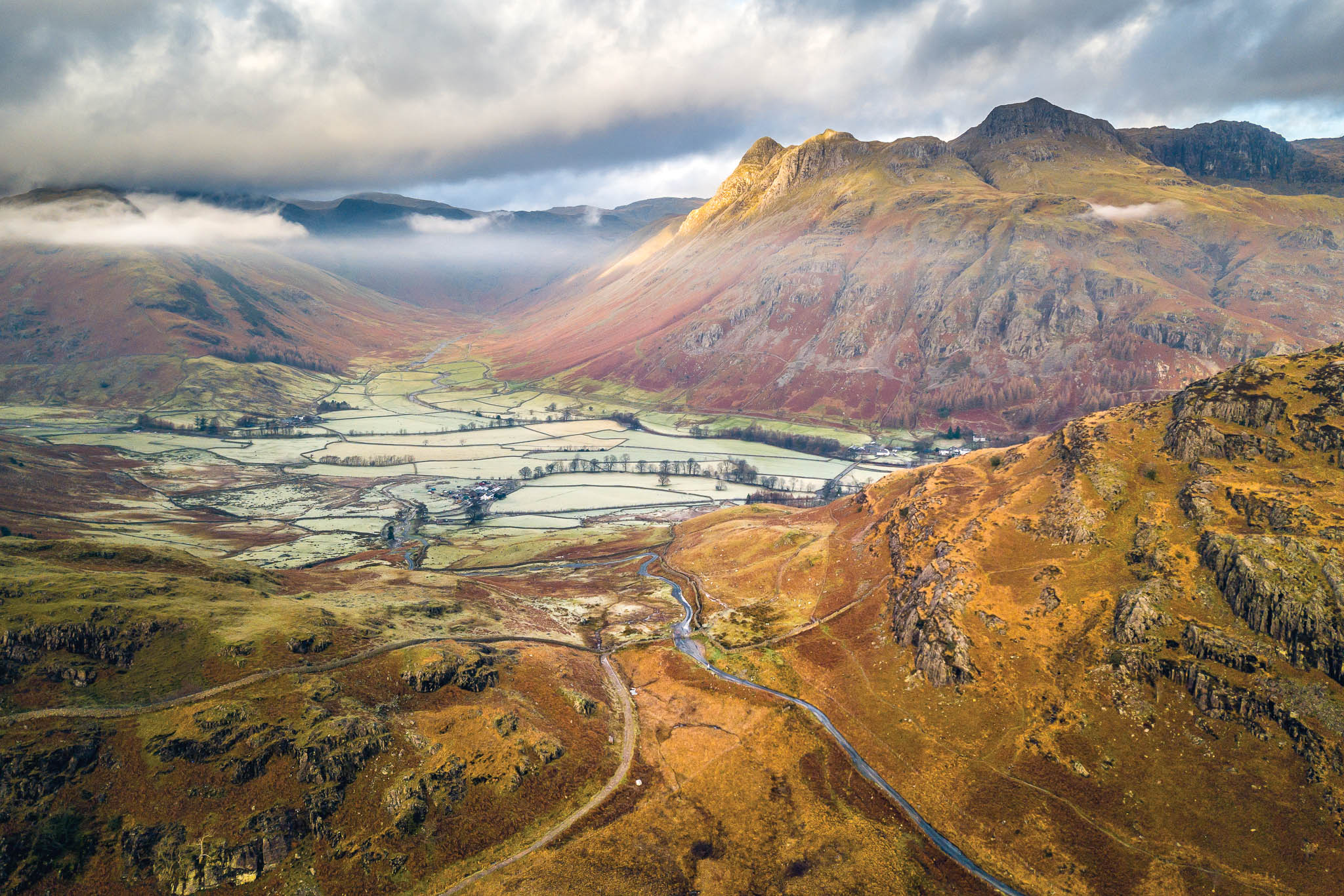 Langdale - This image was taken above Lingmoor in early November, a stunning backdrop and one of the most popular areas to walk in the Lakes, with stunning views reminiscent of the Canadian Rockies