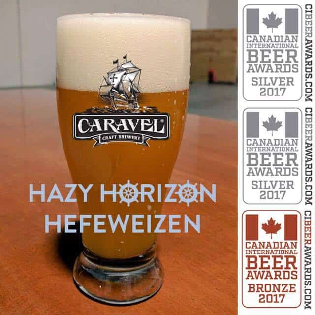 The award-winning  Caravel   Hazy Horizon Hefeweizen