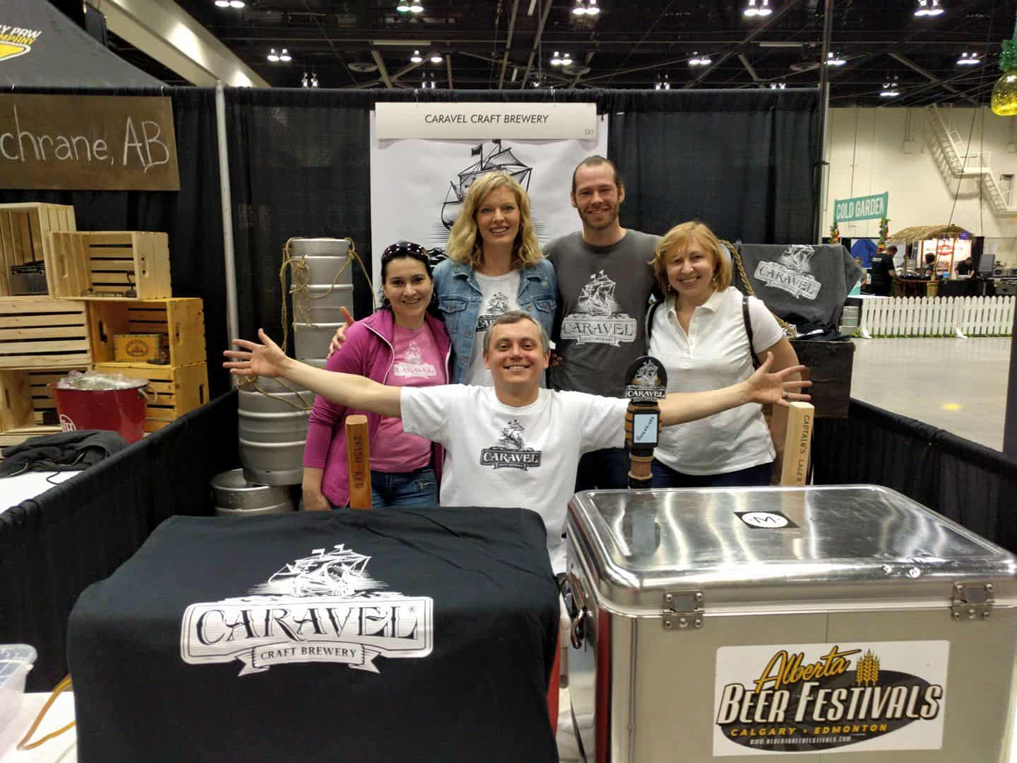 Vlad and the  Caravel  team setting up for  Calgary Beerfest