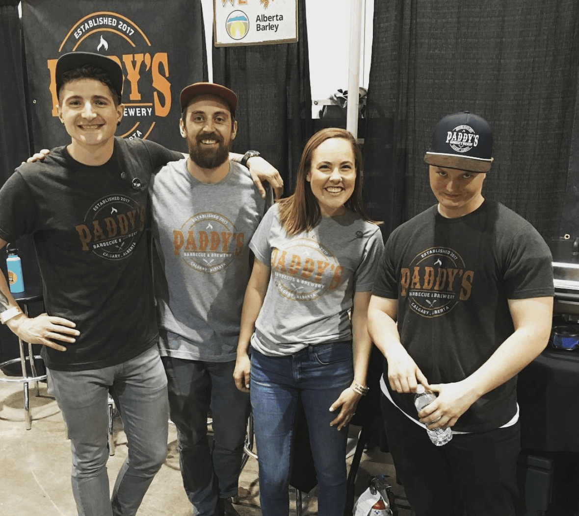 The  Paddy's  team gearing up for the  Calgary International Beer Festival !