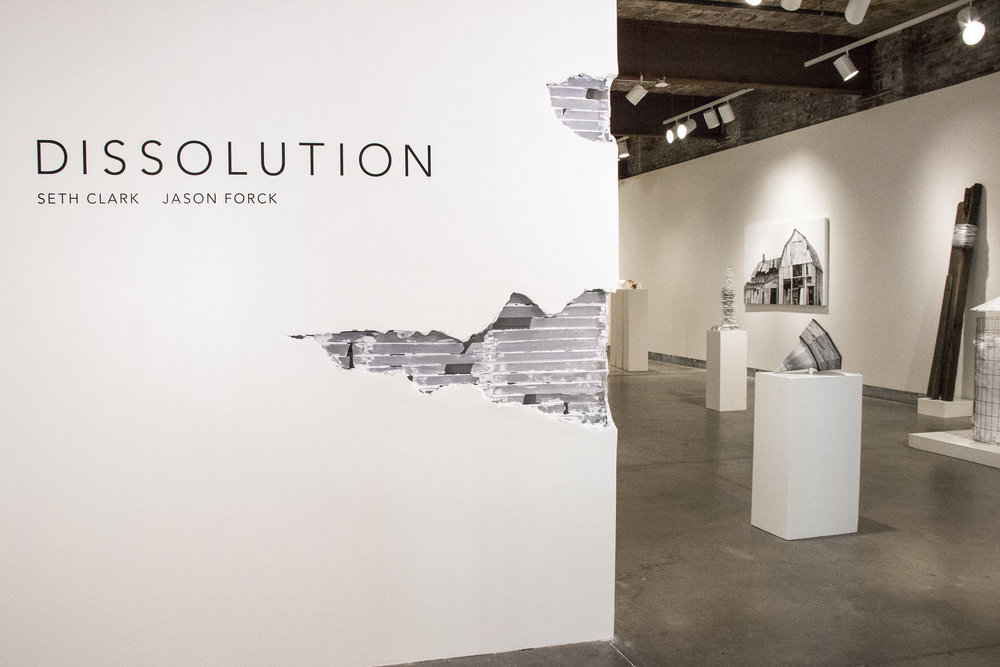 Dissolution  Exhibition at the Pittsburgh Glass Center, 2016-2017. Courtesy of Seth Clark.