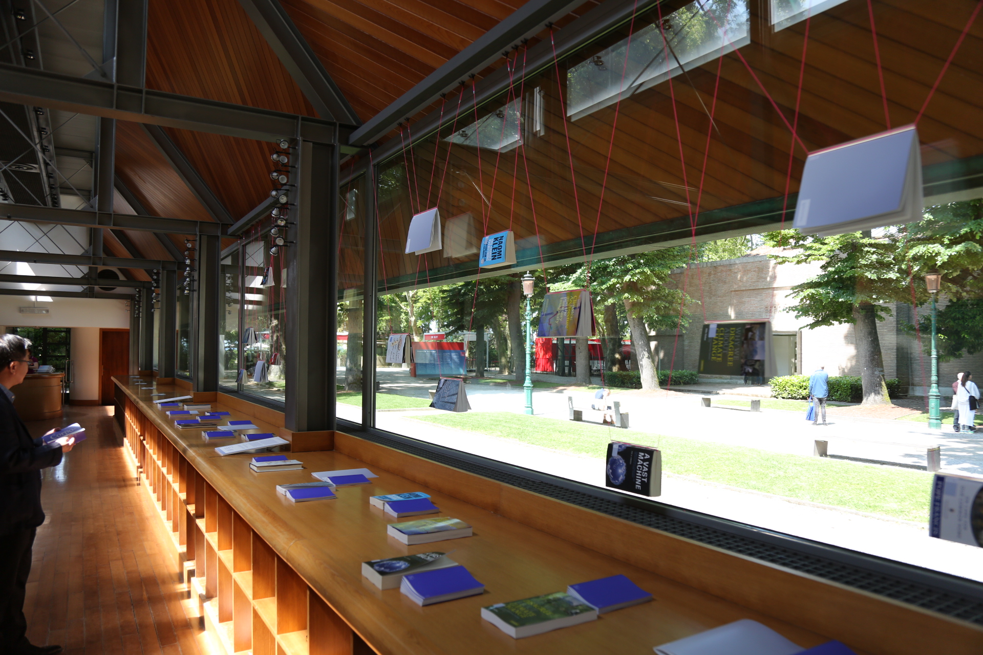 An installation of the Footnotes on Climate at the 2016 Venice Biennale. The digital Footnotes project accompanied the book  Climates: Architecture and the Planetary Imaginary , a print publication Columbia Books on Architecture and the City produced in conjunction with Lars Müller Publishers.   Courtesy James Graham.