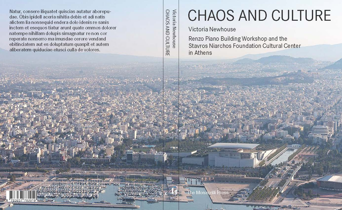 Chaos and Culture  book cover spread draft. Courtesy of The Monacelli Press.