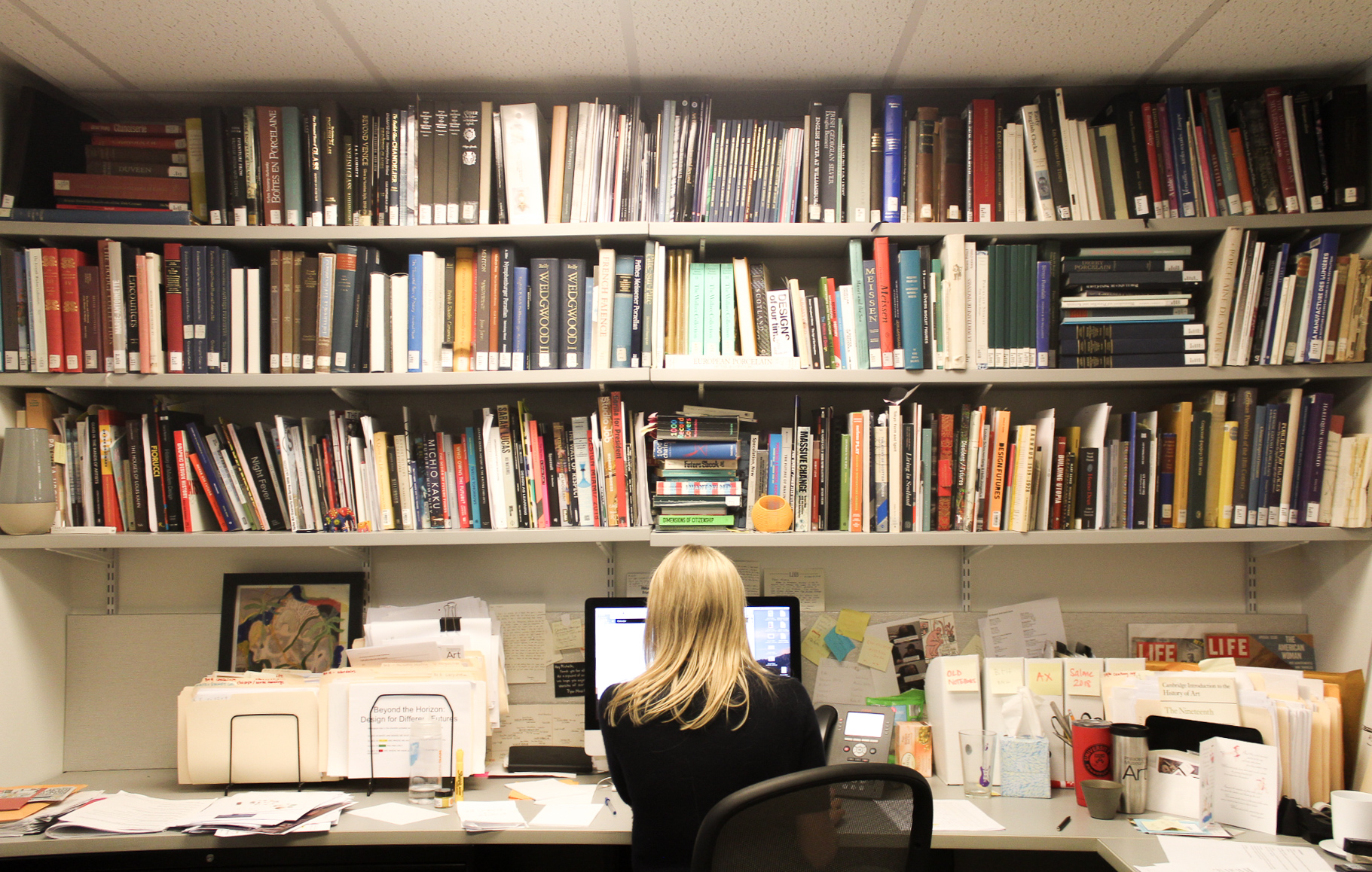 Michelle Millar Fisher in her office at the Philadelphia Museum of Art. Courtesy Ilana Curtis.