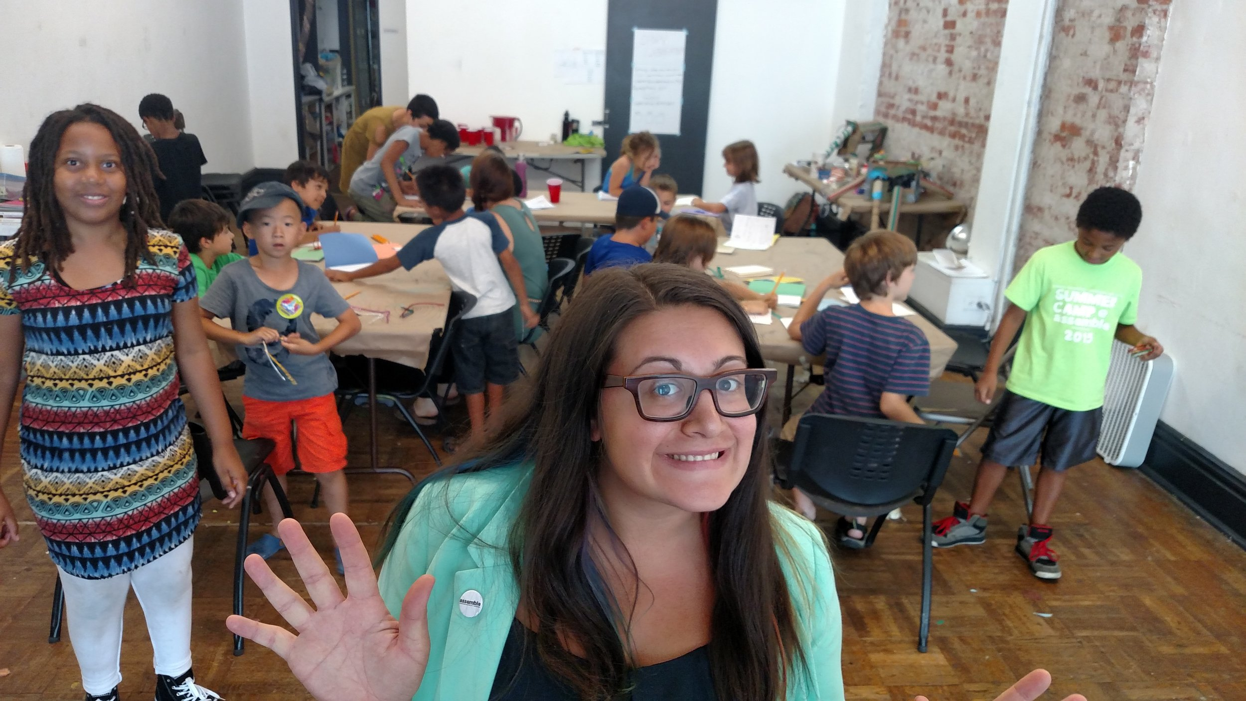 Nina Barbuto, founder of Assemble, pictured in her brick and mortar community space in Pittsburgh's Garfield neighborhood.