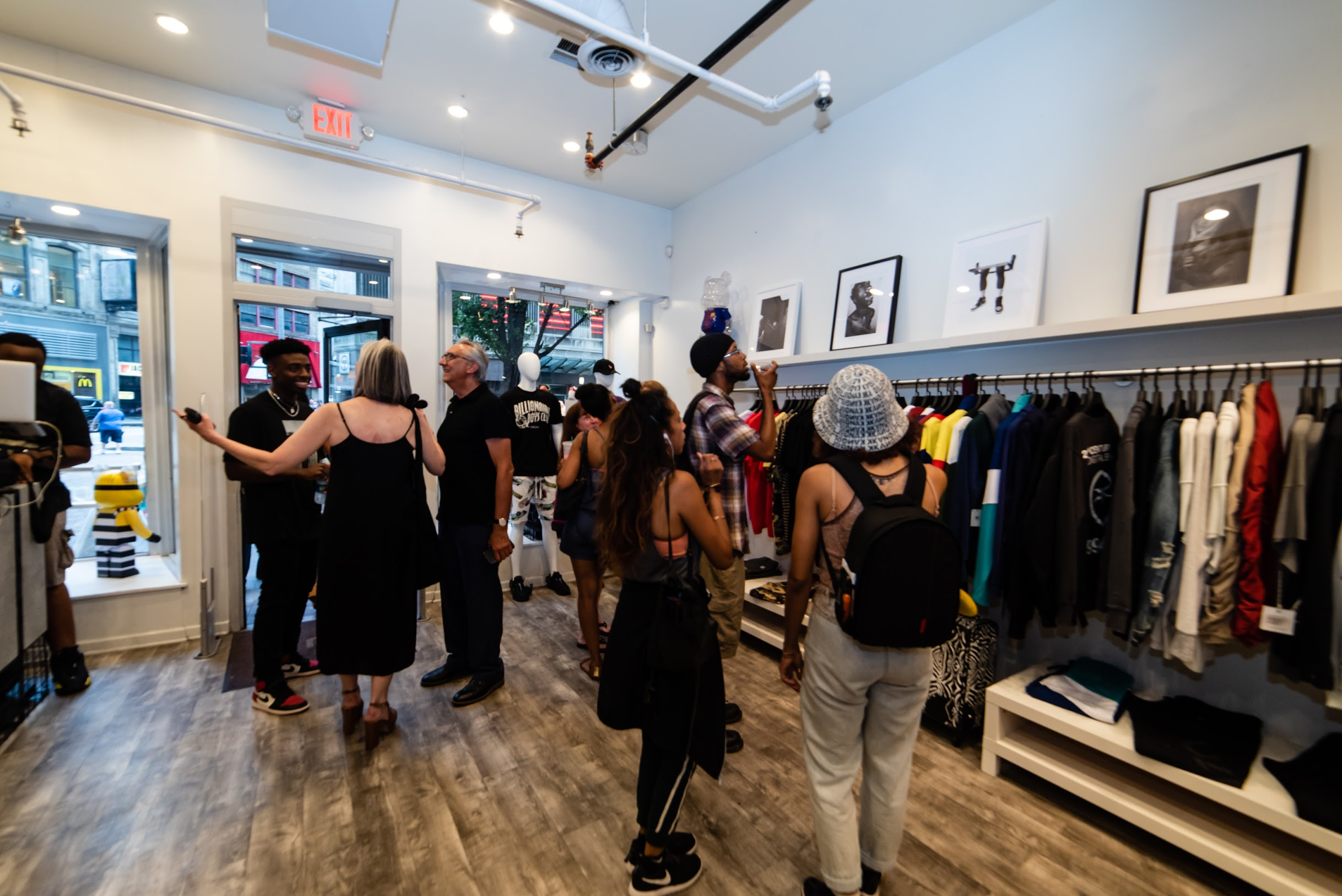 Opening of  24,  an exhibition of the works of Tony Duff, curated by Fay at Social Status in Downtown Pittsburgh, July 2019. Courtesy Tyler Calpin.