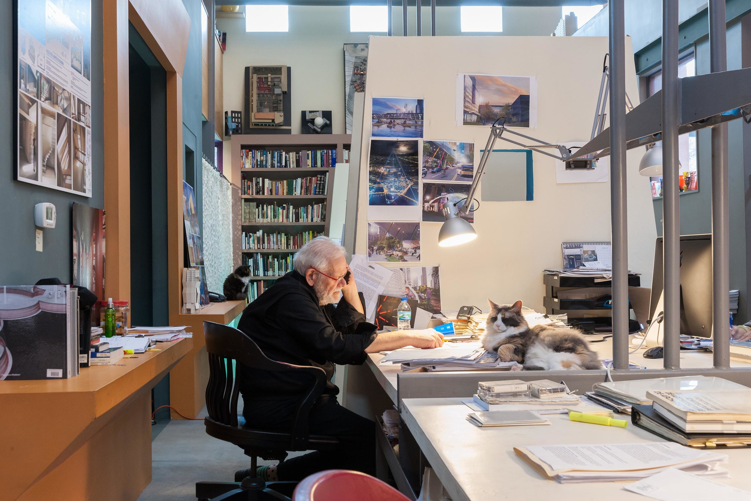 Lubetz in his studio. Courtesy Front Studio.