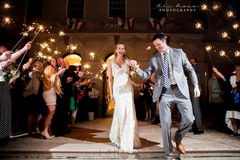 arlington town hall wedding Ali Rosa Photography71