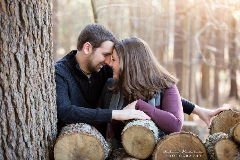 woodsy engagement photos ks08