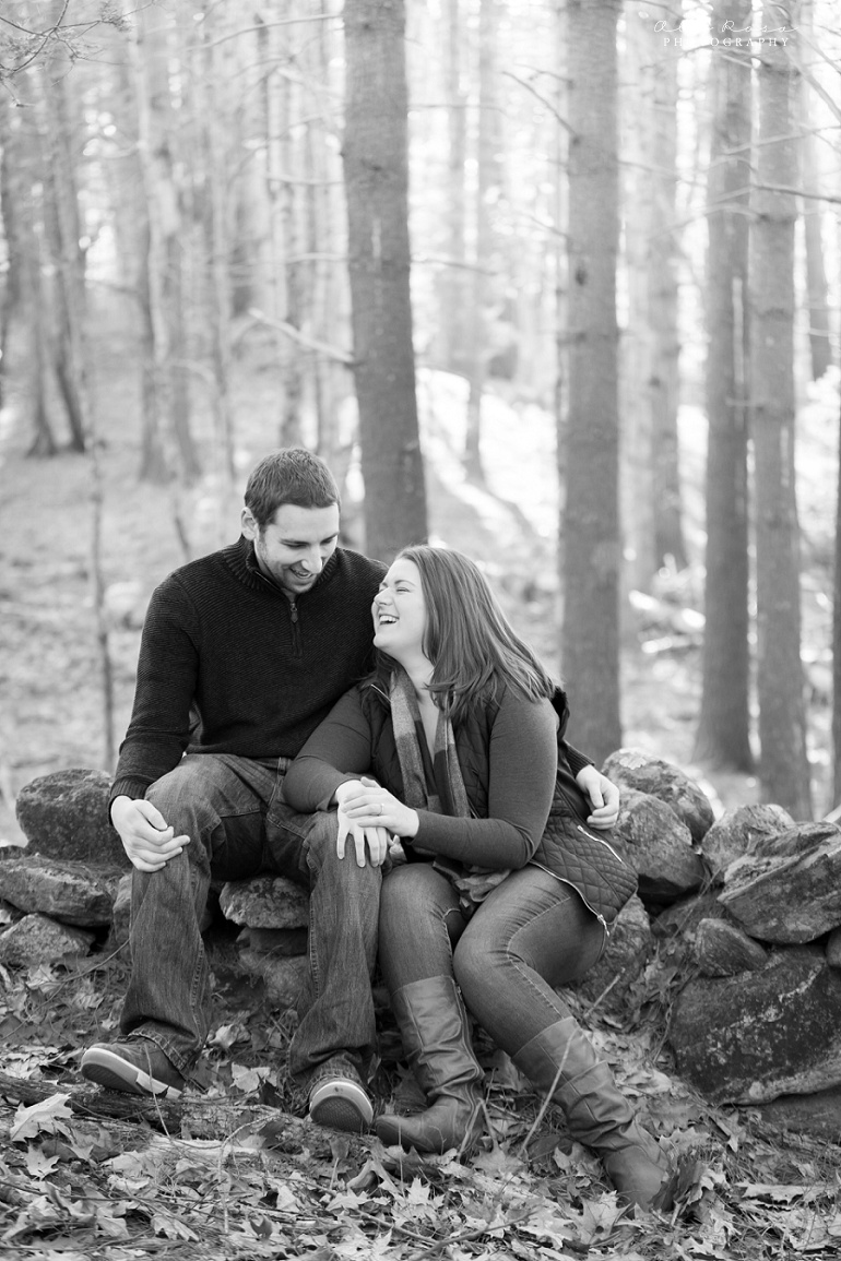 woodsy engagement photos ks13