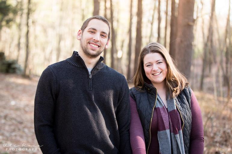 woodsy engagement photos ks17