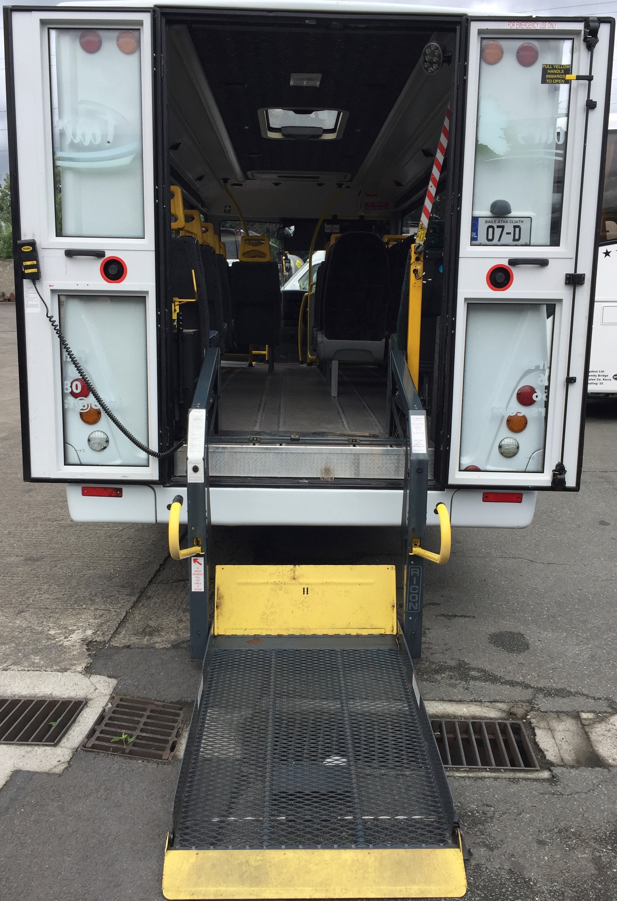 Volkswagen Crafter wheelchair accessible vehicle.