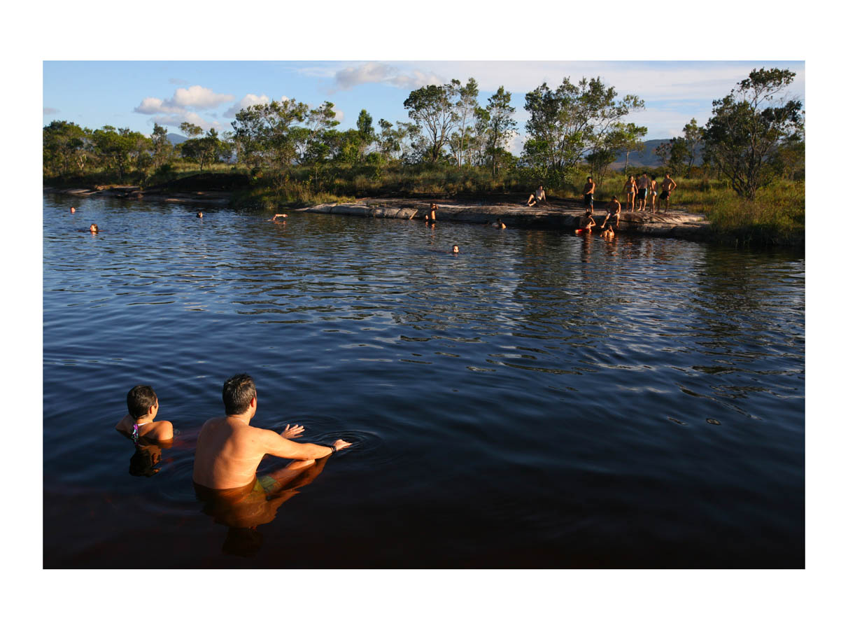 Calm Waters  (Canaima, Venezuela, 2012) by Johnny Green (53 x 73cm)  Price: £450   Size:20.9 H x 28.7 W x 1.2 in   This is the 1st of 12 Limited Edition C-type Lambda prints, encased in a beautiful gloss white ayous wood frame. The matt photograph is signed & dated en verso by the artist and has an elegant off white mount also.