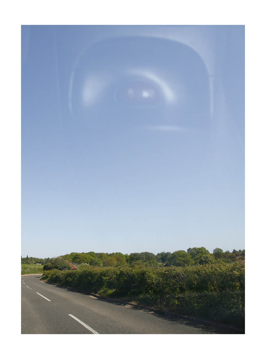 Eye Sky  (Suffolk, England, 2011) by Johnny Green (53 x 43cm)  Price: £300   Size:20.9 H x 16.9 W x 1.2 in   This is the 1st of 12 Limited Edition C-type Lambda prints, encased in a beautiful gloss white ayous wood frame. The matt photograph is signed & dated en verso by the artist and has an elegant off white mount also.