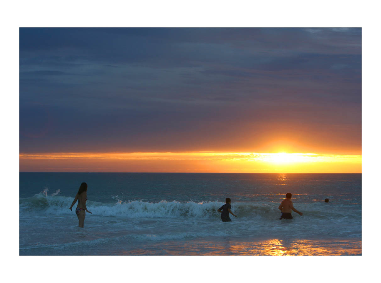 The Sun & The Sea  (Perth, Australia, 2010) by Johnny Green (33 x 43cm)  Price: £250   Size:13 H x 16.9 W x 1.2 in   This is the 1st of 12 Limited Edition C-type Lambda prints, encased in a beautiful gloss white ayous wood frame. The matt photograph is signed & dated en verso by the artist and has an elegant off white mount also.
