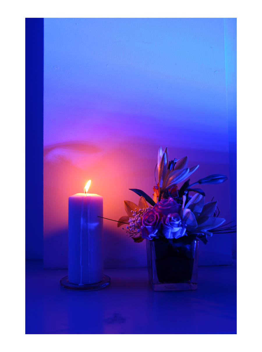 Candle  (Barcelona, Spain, 2012) by Johnny Green (43 x 33cm)  Price: £250   Size:16.9 H x 13 W x 1.2 in   This is the 1st of 12 Limited Edition C-type Lambda prints, encased in a beautiful gloss white ayous wood frame. The matt photograph is signed & dated en verso by the artist and has an elegant off white mount also.