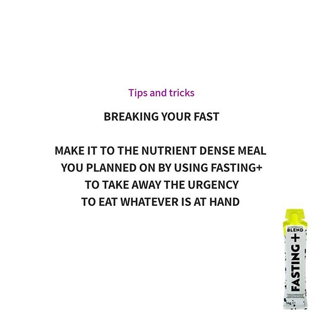 If you are delayed in breaking your fast or just super hungry, have a FASTING+ fasting stick to buy yourself some time.  This could help you break your fast with the meal you planned before hunger set in. ✅ Time to cook ✅ Time to get home and eat ✅ Time to track down a healthy option  #breakingyourfast #intermittentfastingtips #intermittentfastingsupport #intermittentfastinglifestyle  #nutritionistsblend #fastingplus #calorierestrictionmimetics #fastingmimetics #healthyfat