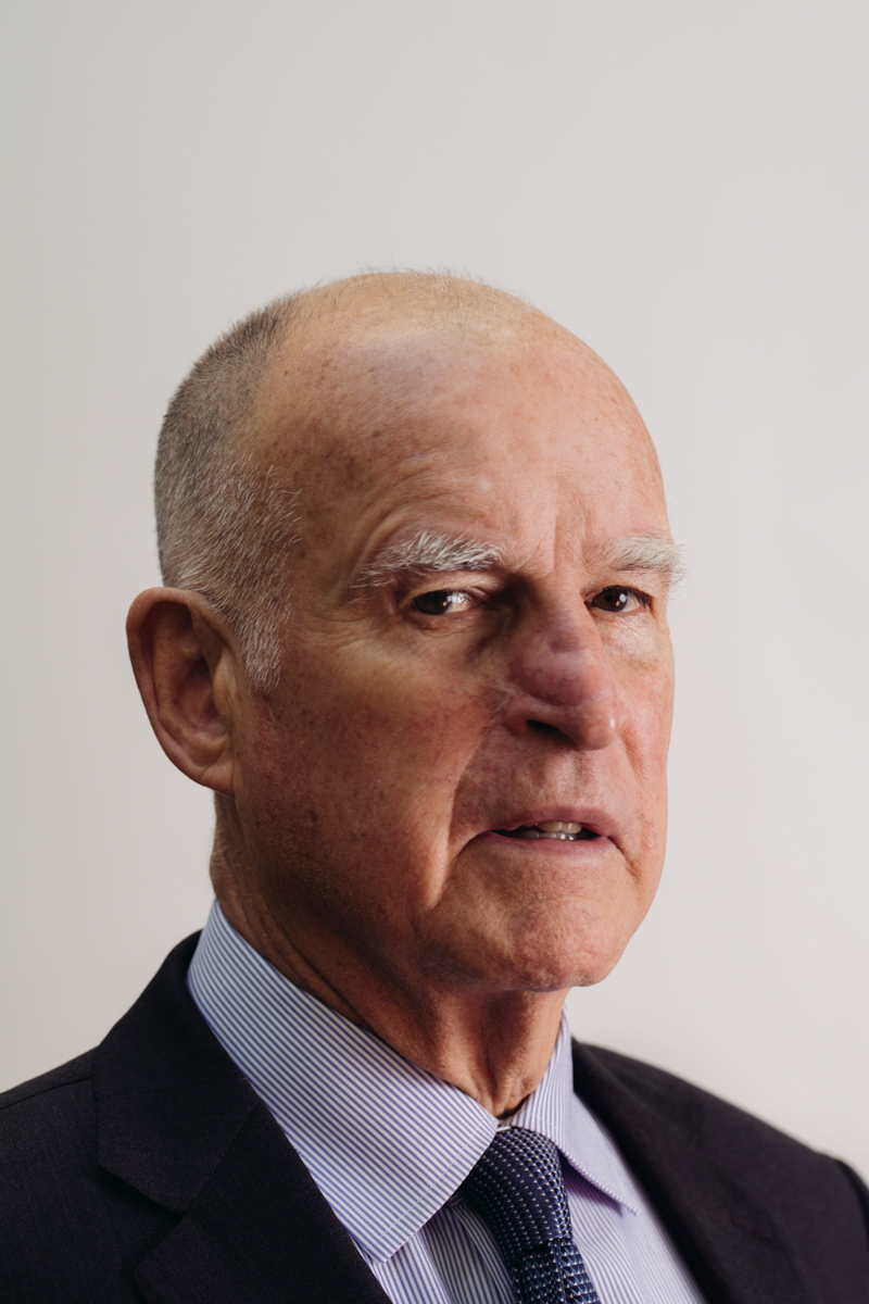 California Governor Jerry Brown for Newsweek.
