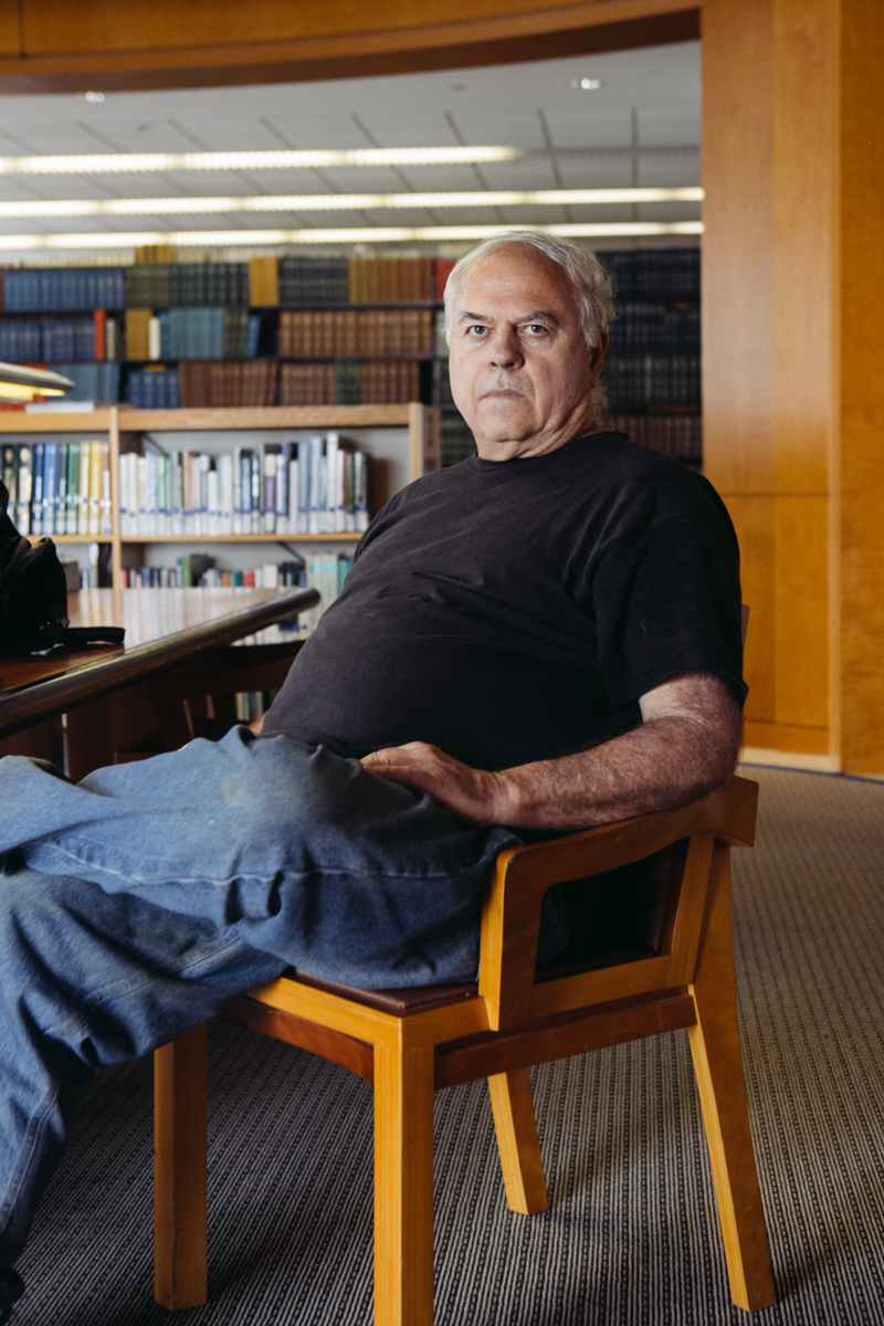 Phil Means, Homeless patron of SF Public Library and Vietnam veteran,for Timeline.