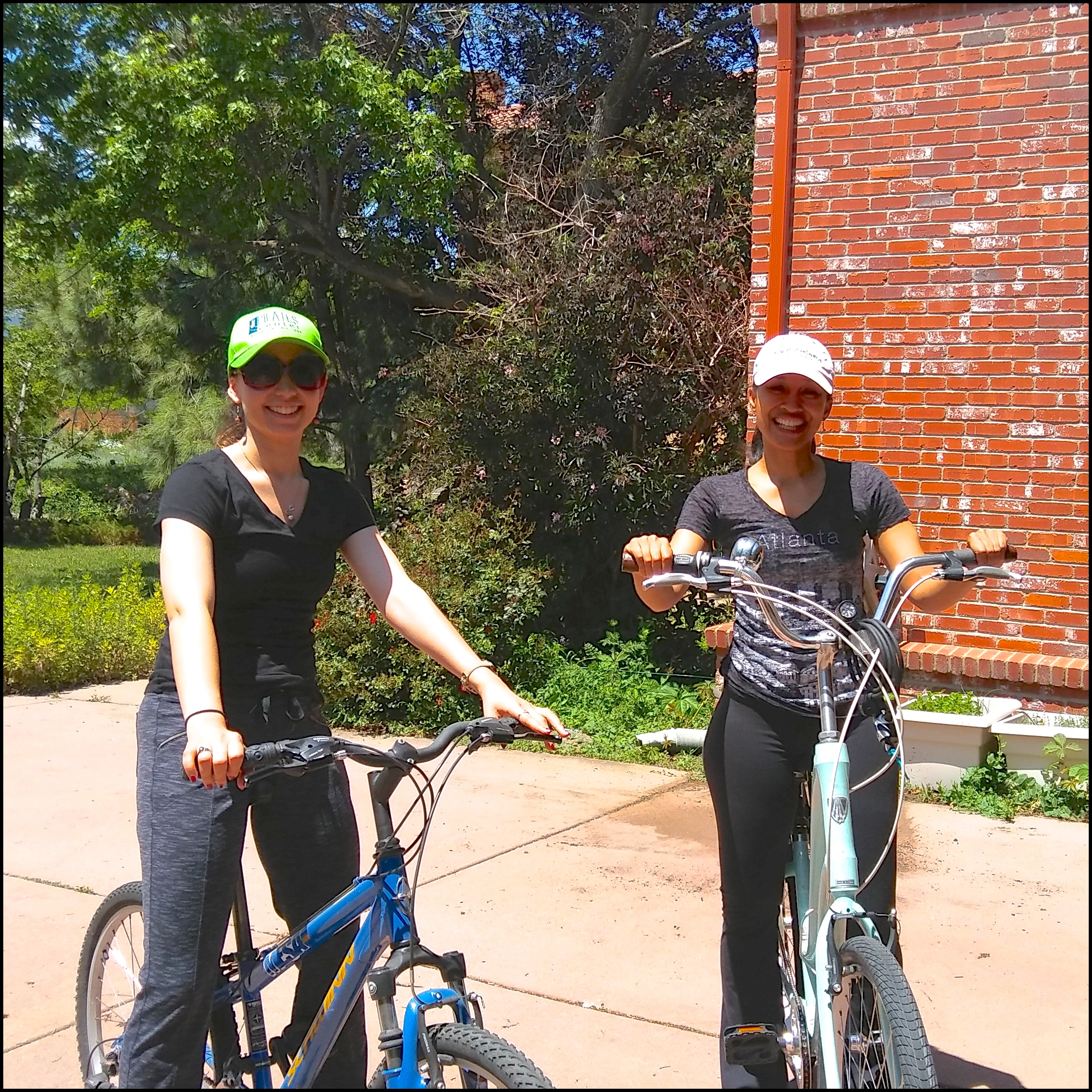 Erika (left) and Kimberly (right) embrace Boulder, CO culture during their certification trip to The Pilates Center.