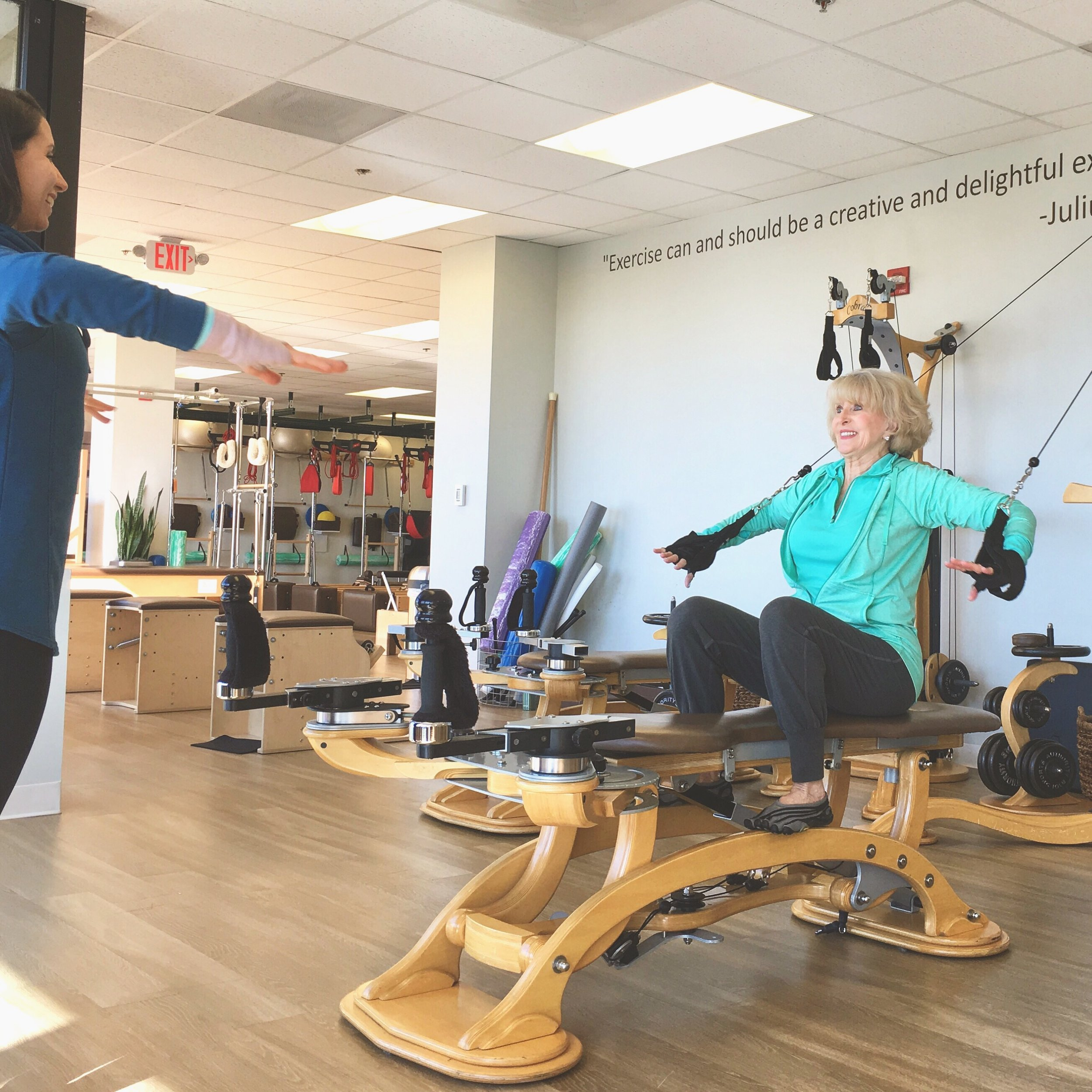 Gyrotonic Happy Client with Expert CORE Instructor
