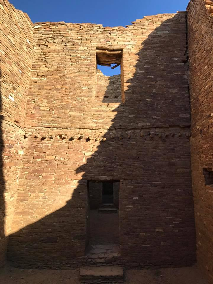 """Multi-story rooms Inside Pueblo bonito, the largest """"city"""" complex at Chaco Canyon"""