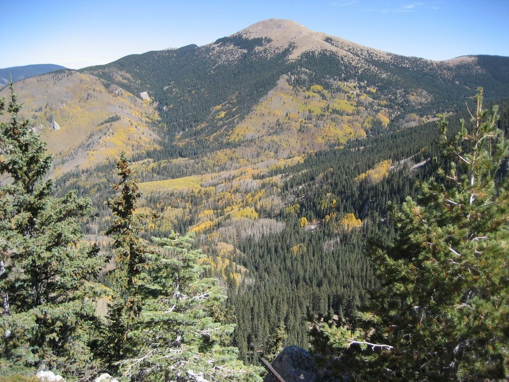 A view of Mt baldy in september from the trail on the way up!
