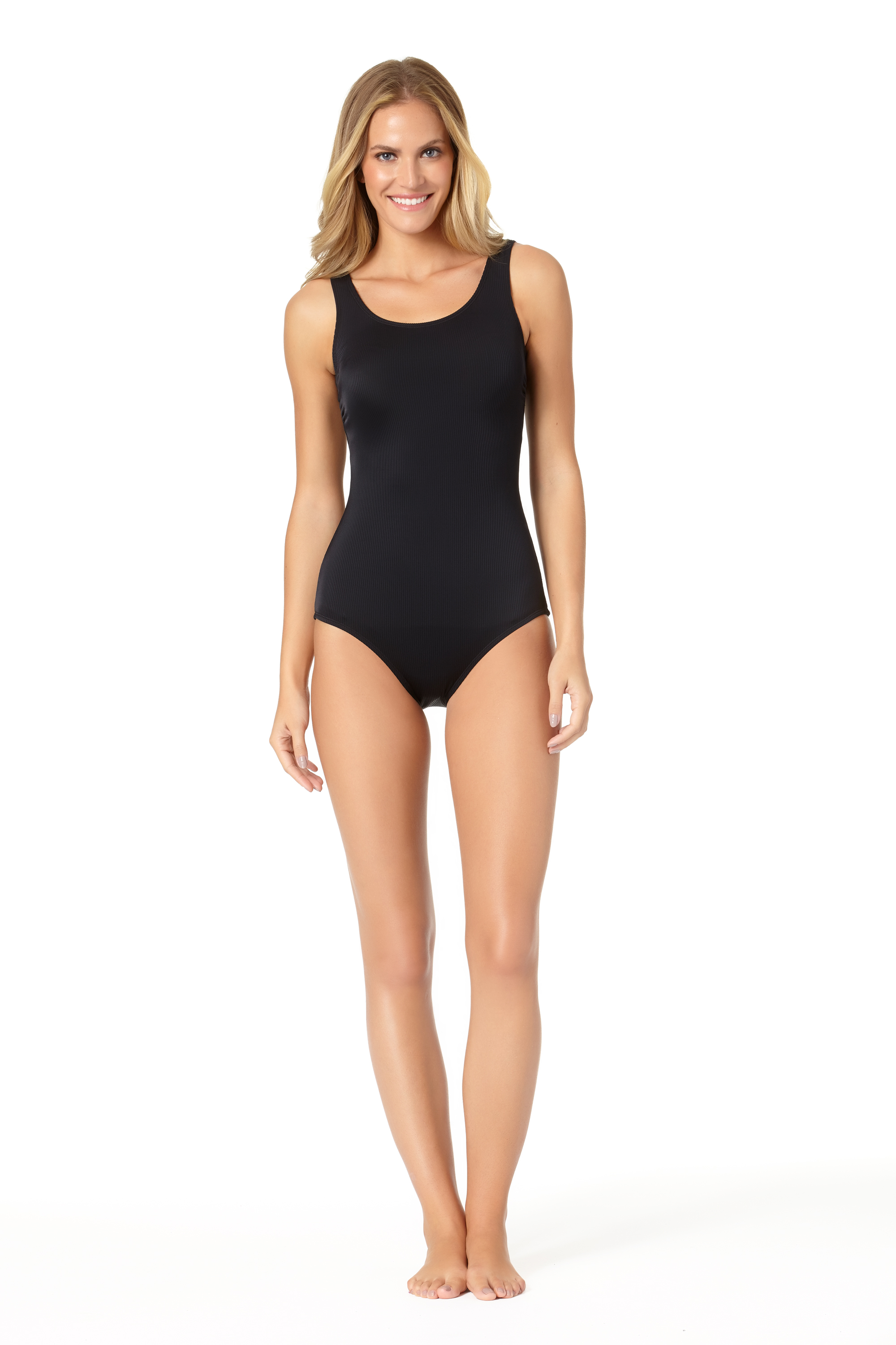 STYLE # CTL07100 - Black Rib One-PieceBUY NOW ON SWIMSUITSDIRECT