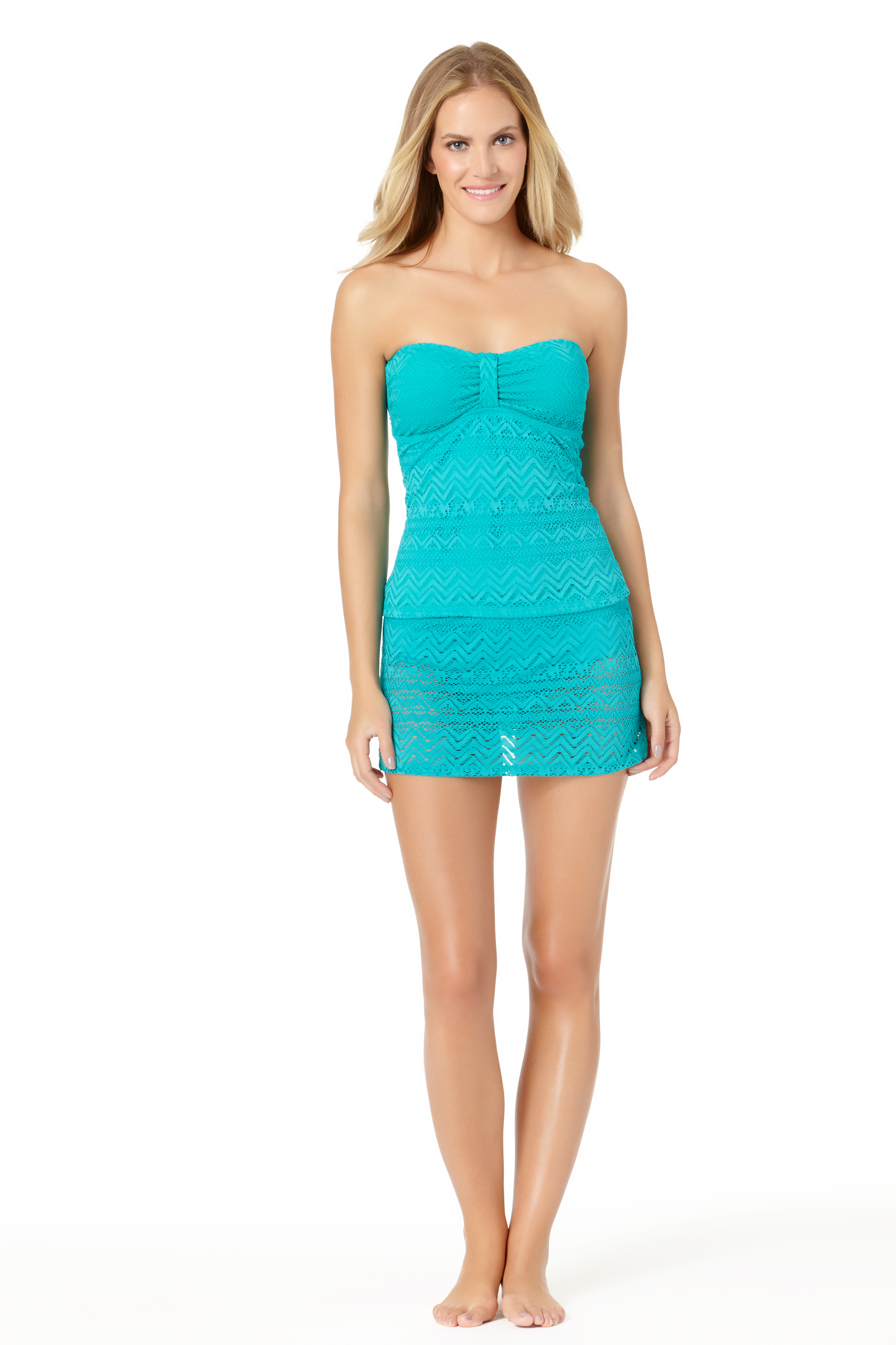 STYLE # CTL17411T / CTL17703B - Crochet Bandini TopSOLD OUTCrochet Skirted BottomSOLD OUT