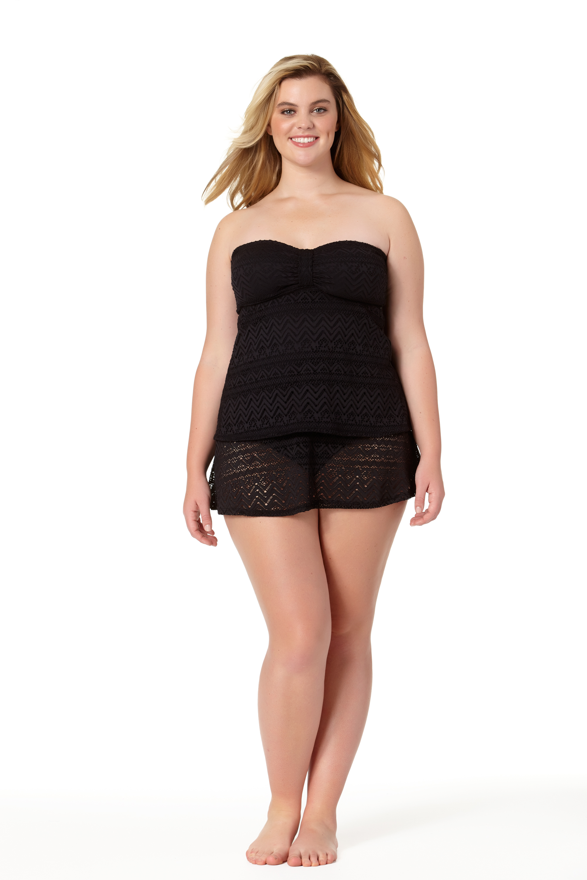 STYLE #CTP17411T /CTP17703B - Crochet Bandini TopSOLD OUTCrochet Skirted BottomSOLD OUT