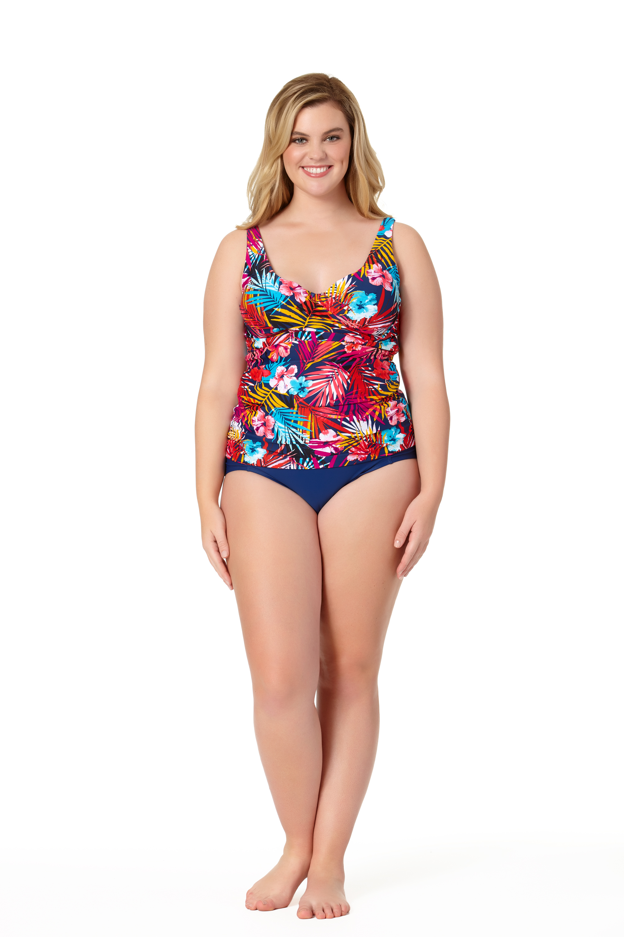 STYLE #CTP17404T /CTP17500B - Hawaii Dream Twist Halterkini TopSOLD OUTSolid High Waist BottomSOLD OUT
