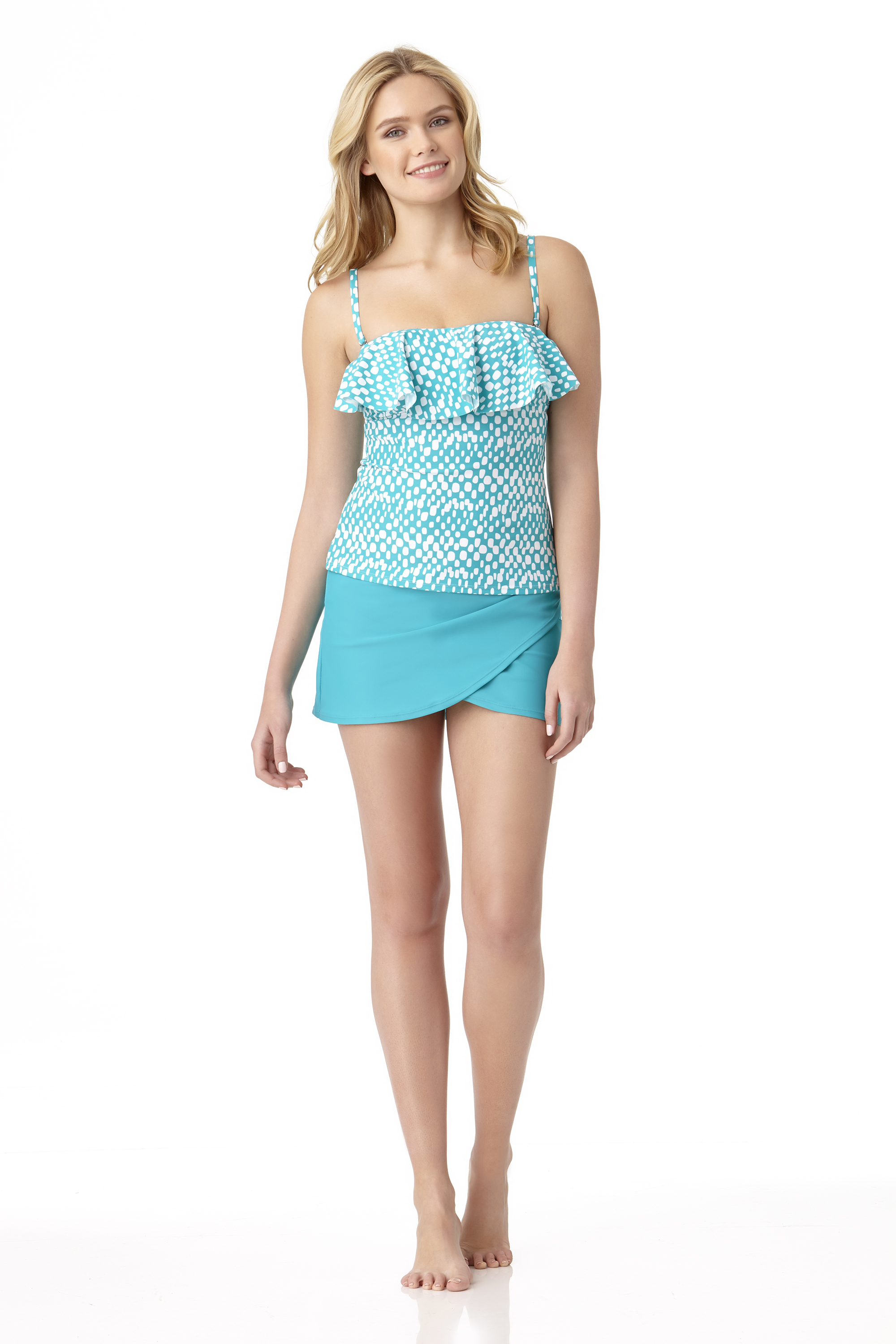 STYLE # CTL37434 / CTL37730B - Nairobi Bandini TopSOLD OUTSolid Wrap Skirted BottomSOLD OUT