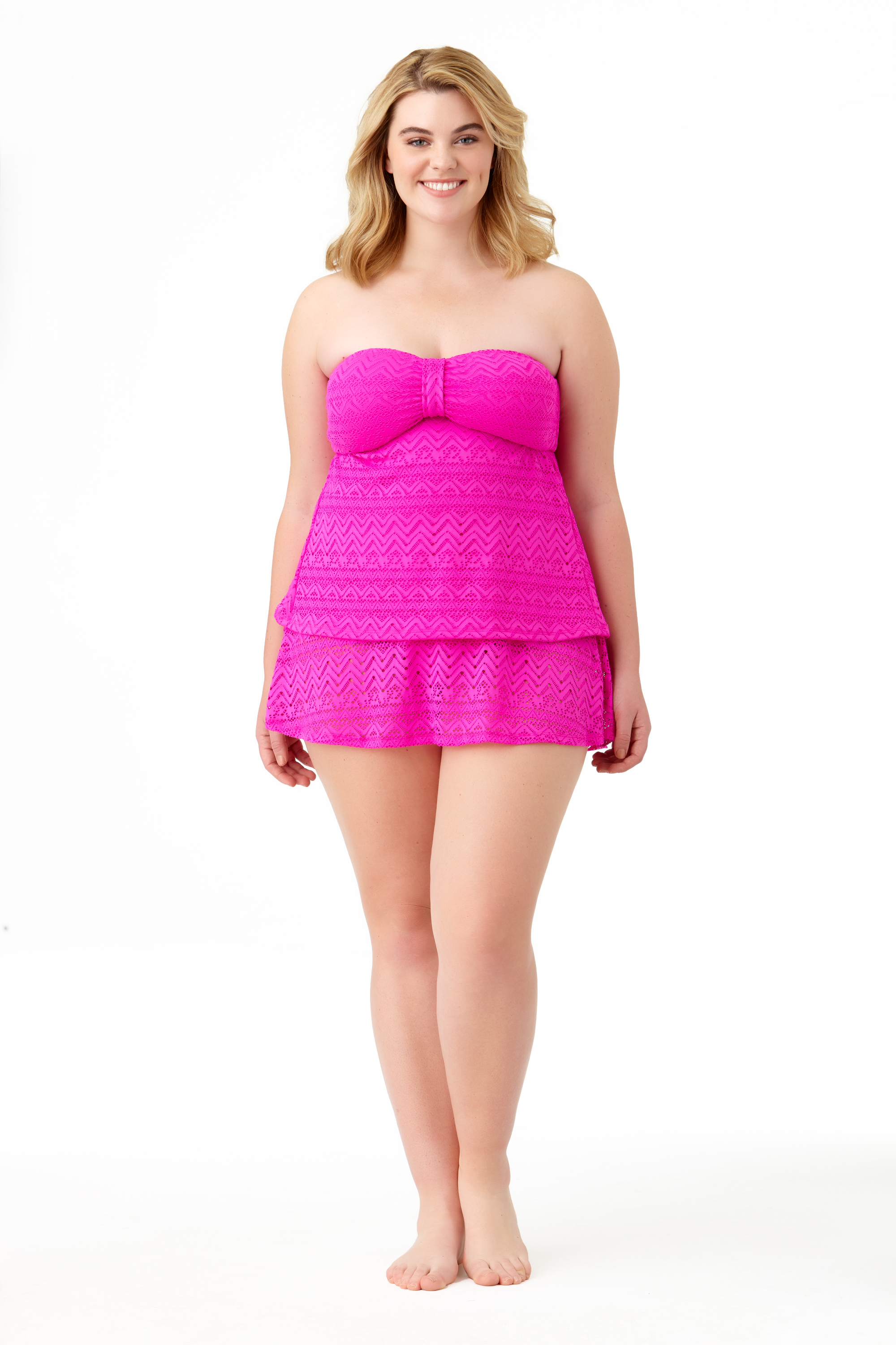 STYLE #CTP27411T /CTP27703B - Solid Crochet Bandini TopSOLD OUTSolid Crochet Skirted BottomSOLD OUT