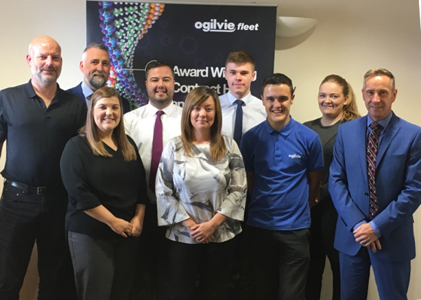 Ogilvie Fleet's daily rental team with operations director Jim Hannah (far right).
