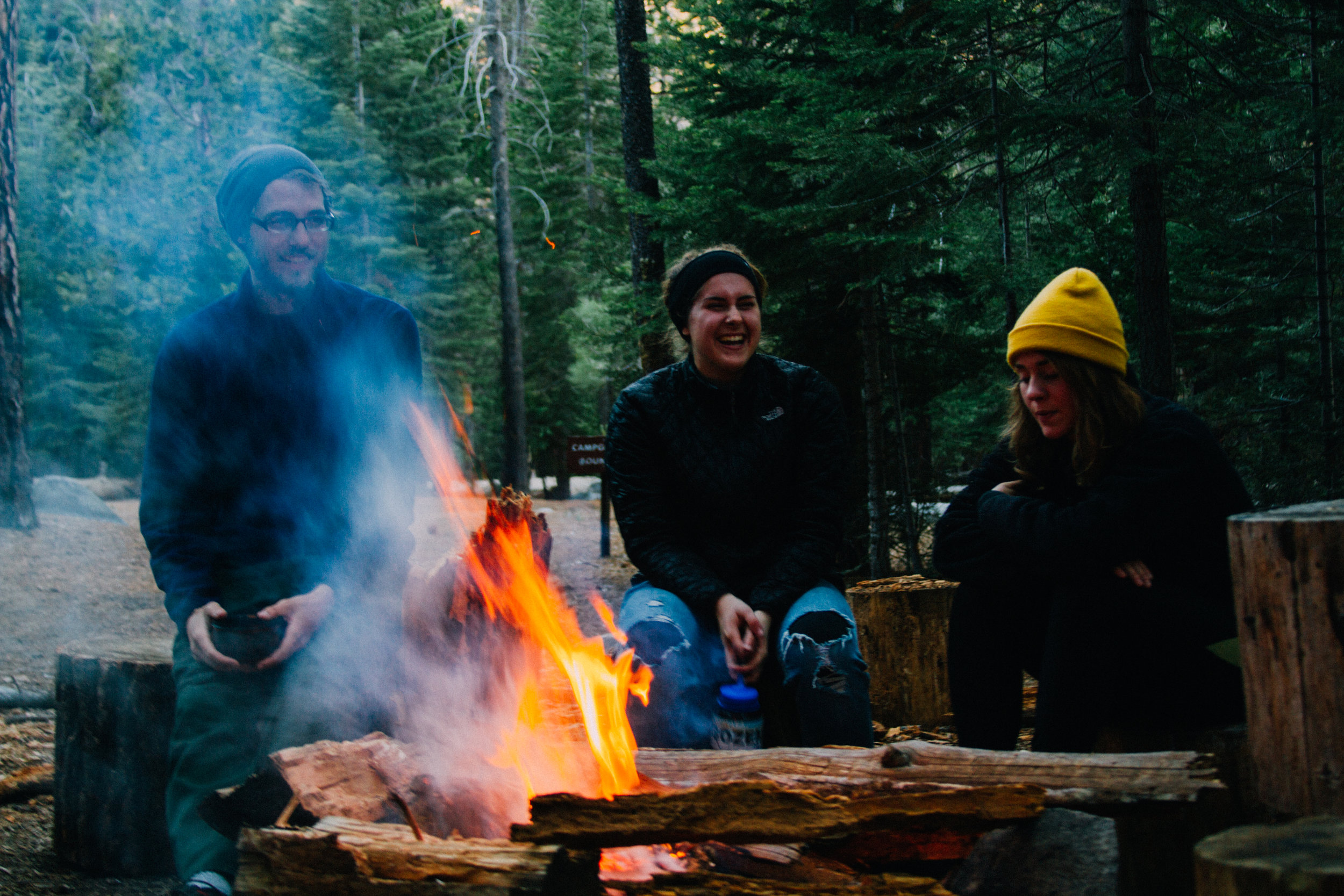Camping at Little Yosemite Valley